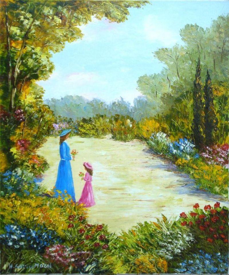 Peintures helene gastin mozol for Au jardin d enfants